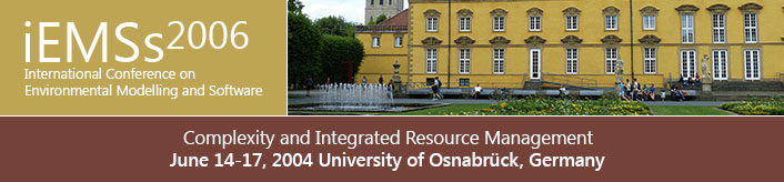 2nd International Congress on Environmental Modelling and Software - Osnabrück, Germany - June 2004