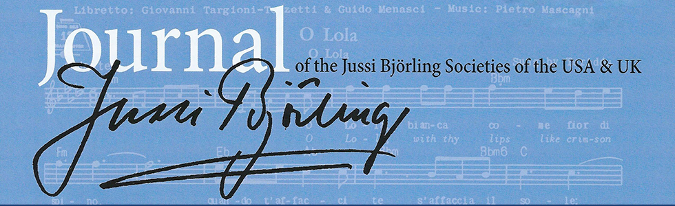 Journal of the Jussi Björling Societies of the USA & UK
