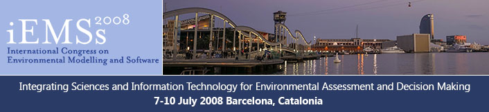4th International Congress on Environmental Modelling and Software - Barcelona, Catalonia, Spain - July 2008