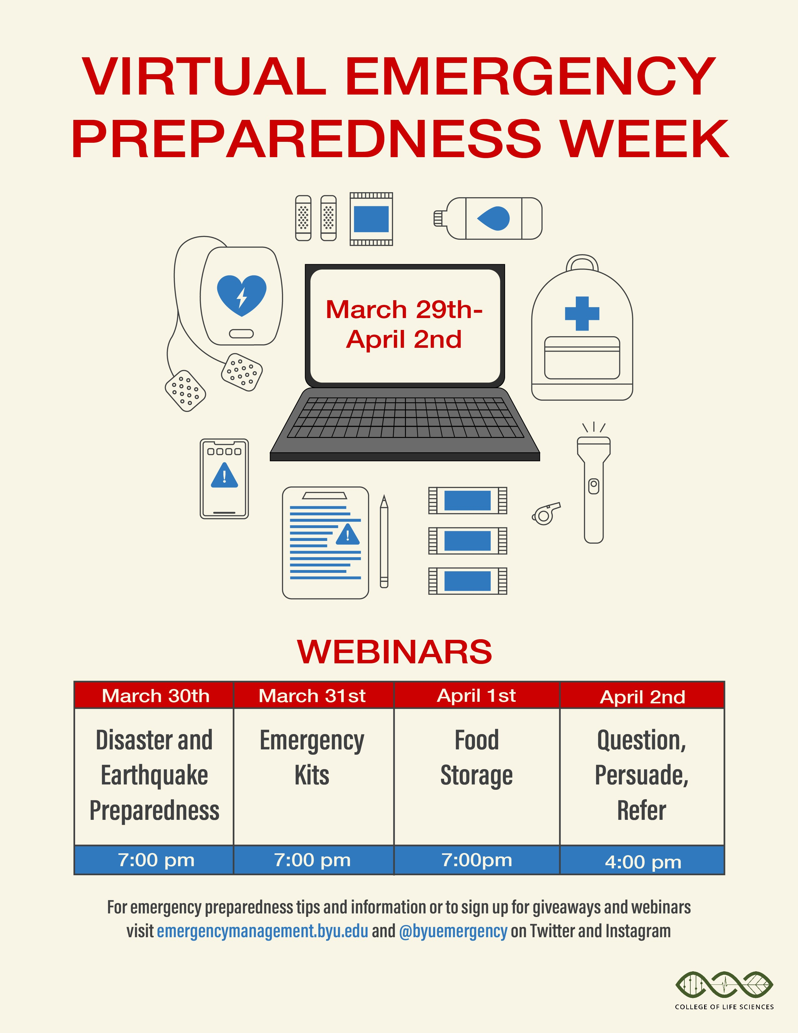 Virtual Emergency Preparedness Week