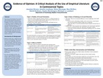 Evidence of Opinion: A Critical Analysis of the Use of Empirical Literature in Controversial Topics