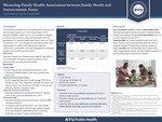 Measuring Family Health: Associations between Family Health and Socioeconomic Status by Quenla Haehnel and Alice Ann Crandall Ph.D.
