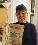 Maria del Pilar Guillèn Núñez with editions of Runa Soncco by María del Pilar L. Guillén Núñez