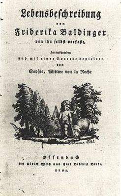 Friderika Baldinger, 1739-1786